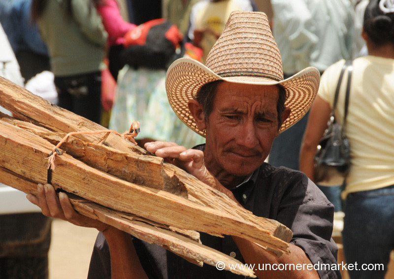 Man Carrying Wood - La Esperanza, Honduras