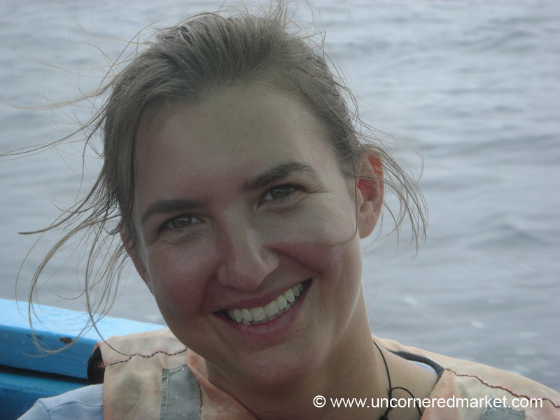 Audrey Goes Whale Watching - Puerto Lopez, Ecuador