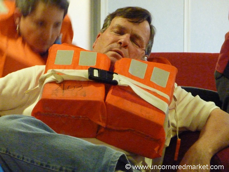 Asleep During Safety Session - Antarctica