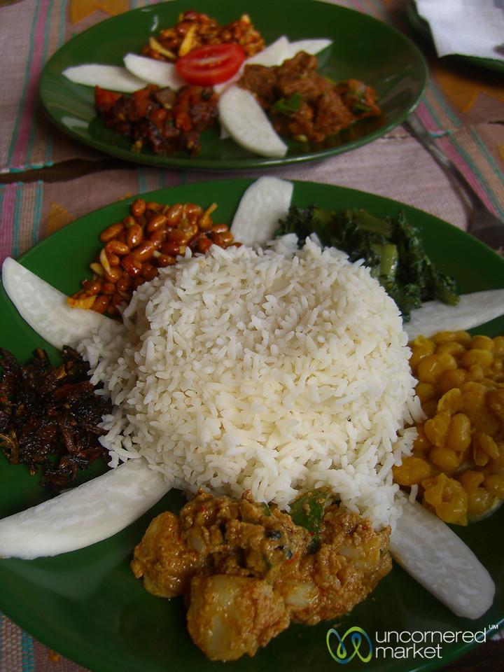 Vegetarian Newari Food - Pokhara, Nepal