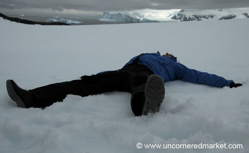 Snow Angels in Antarctica