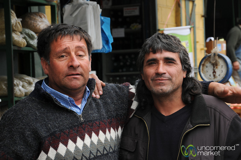 Friendly Vendors at Mercado Cardonal - Valparaiso, Chile