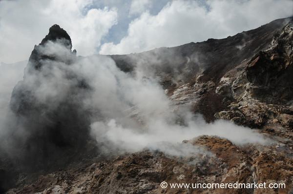 Sulphuric Steam - Cerro Negro Volcano, Nicaragua