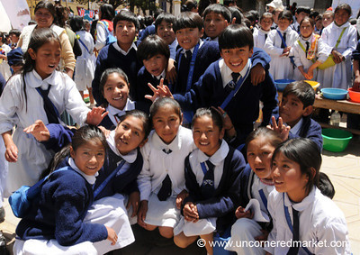 Friendly Schoolkids - Potosi, Bolivia