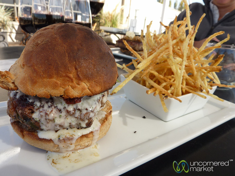 Lamb Burger at Tempus Alba Winery - Mendoza, Argentina