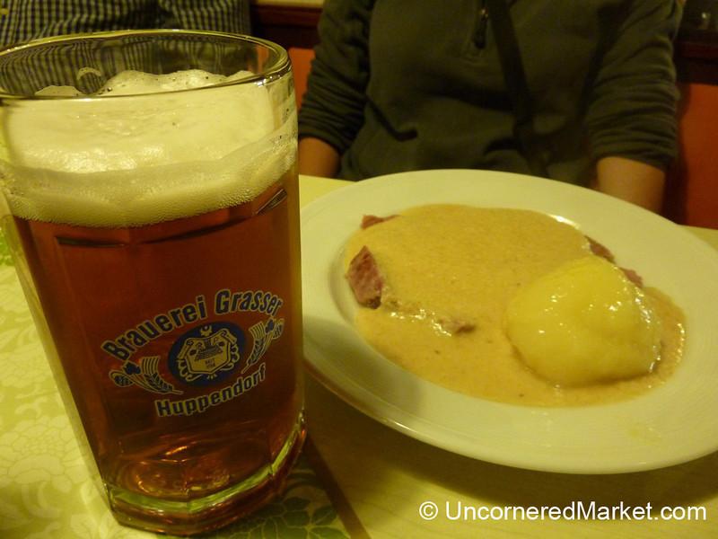 Bavarian Food for the Night - Thurnau, Bavaria