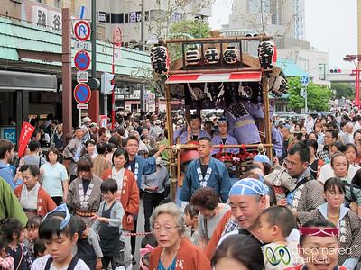 Mikoshi (Portable Shrine) at Sanja Festival - Tokyo, Japan