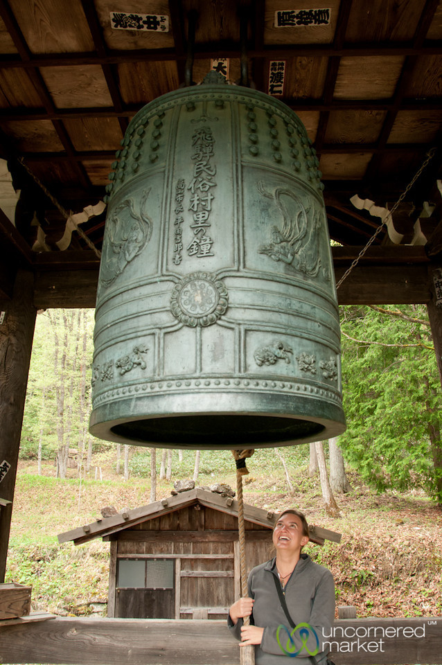 Audrey Rings the Bell in Takayama, Japan
