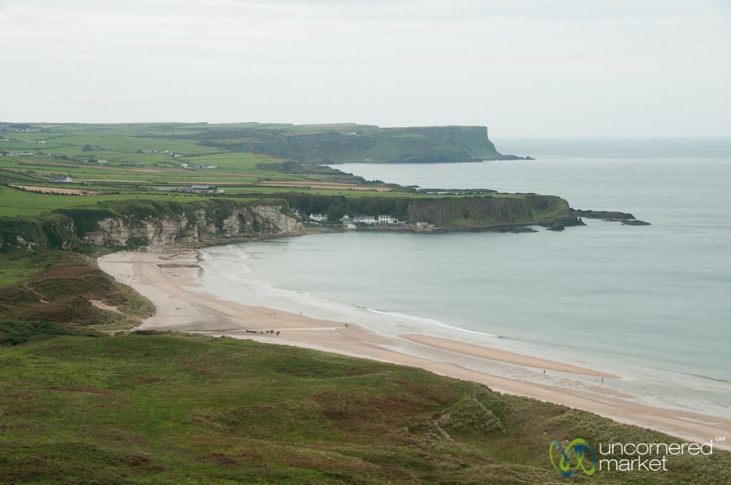 Coastal Causeway Drive in Northern Ireland