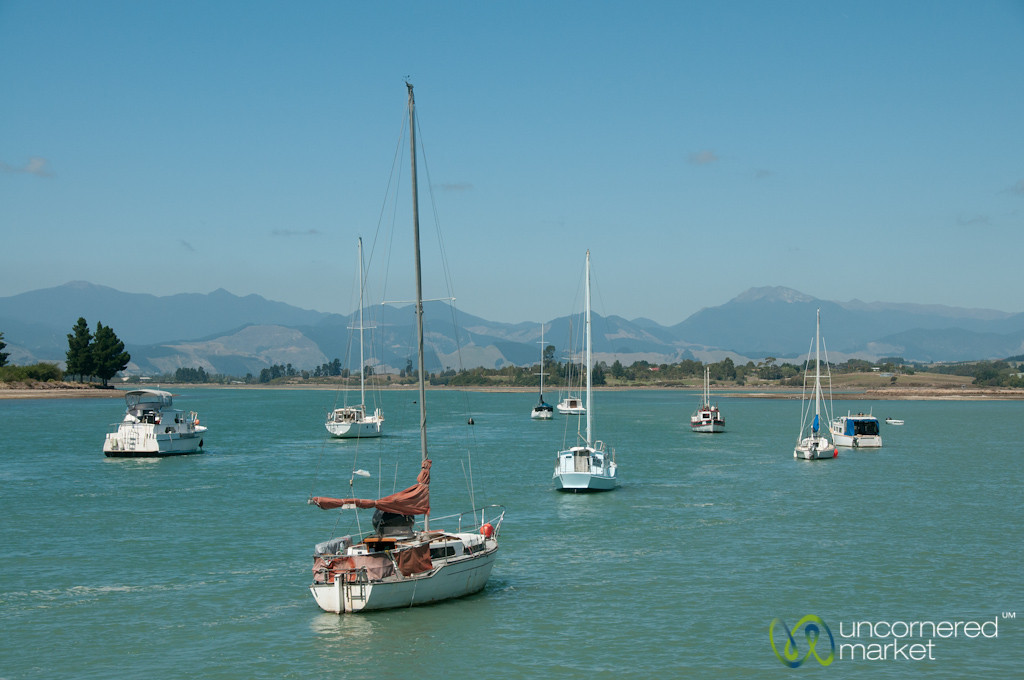 Sailboats at Mapua Dock - Nelson, New Zealand