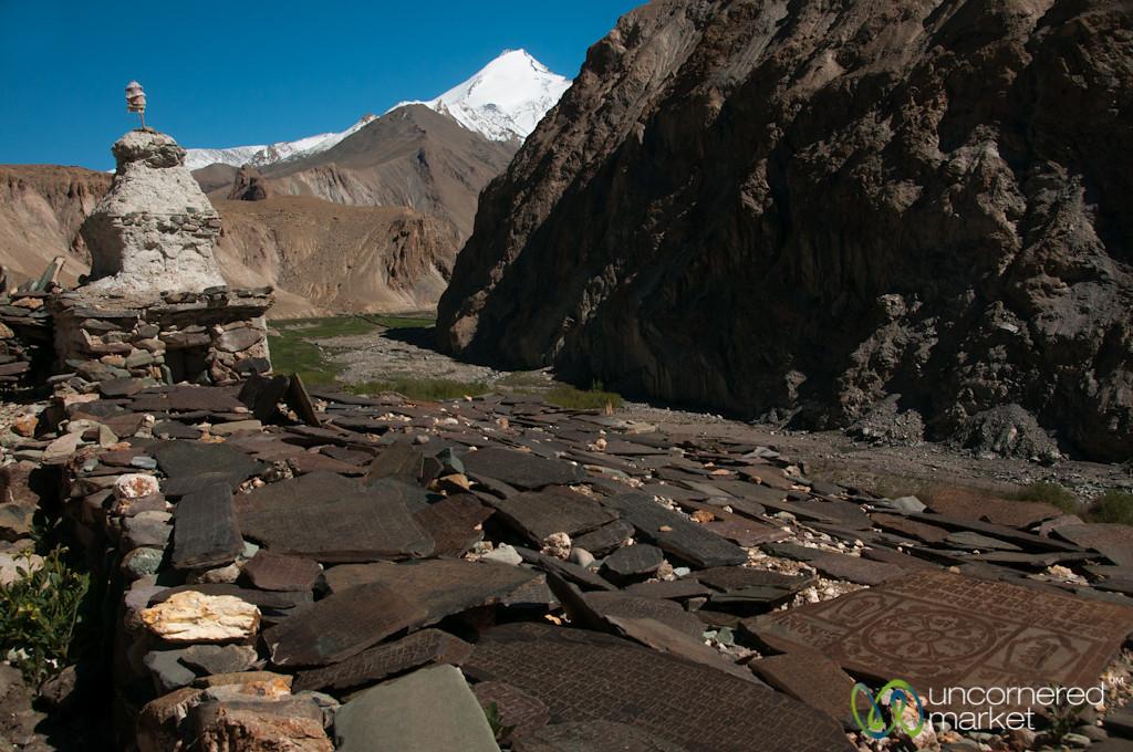 Mani Walls and Chorten, Day 4 of Markha Valley Trek - Ladakh, India