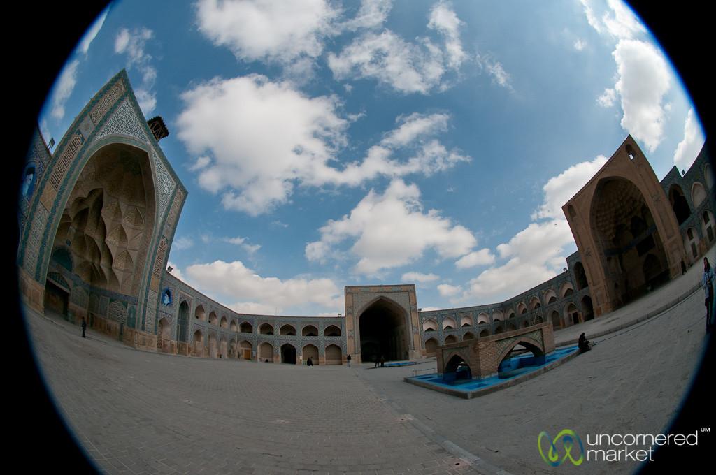 Fisheye View of Jameh Mosque - Esfahan, Iran