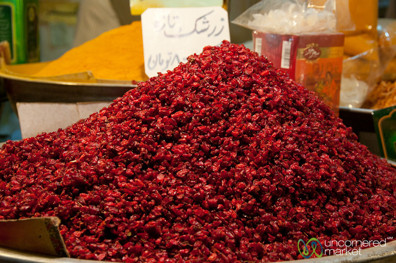 Barberries Piled High at Esfahan Market - Iran