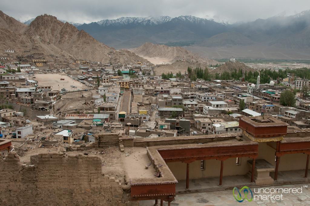 View of Leh from Leh Palace - Ladakh, India