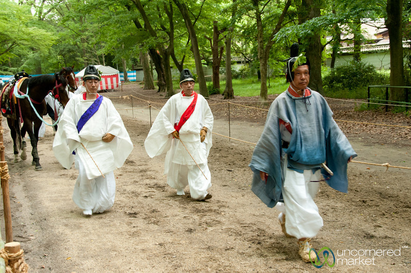Shinto Priests at Aoi Matsuri Shinto Festival - Kyoto, Japan