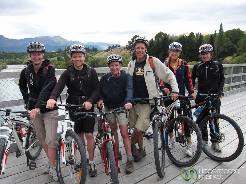 Our G Adventures Group on Mountain Bikes - Queenstown, New Zealand