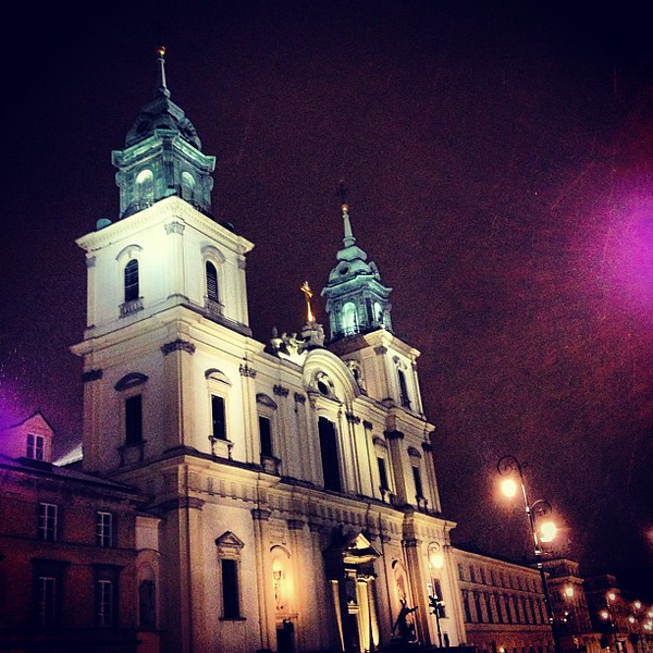 The home of Chopin's heart, Holy Cross Church, Warsaw #snow #spring ?