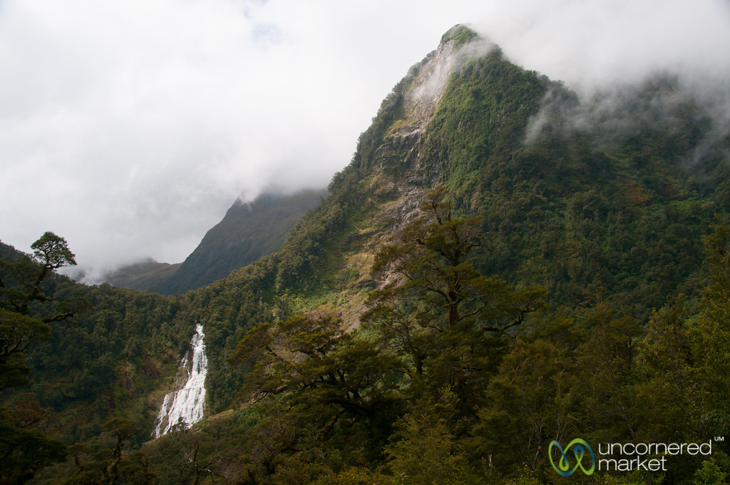 Doubtful Sound Waterfall - South Island, New Zealand