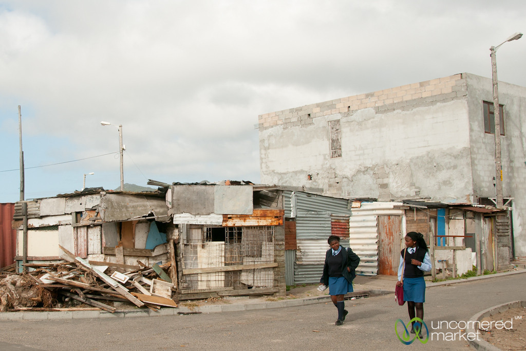 Masiphumelele Township, Home from School - Cape Town, South Africa