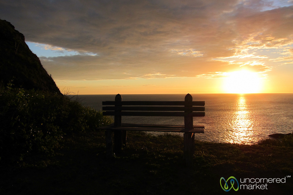 Bench with a Sunset View - Morgan's Rock, Nicaragua
