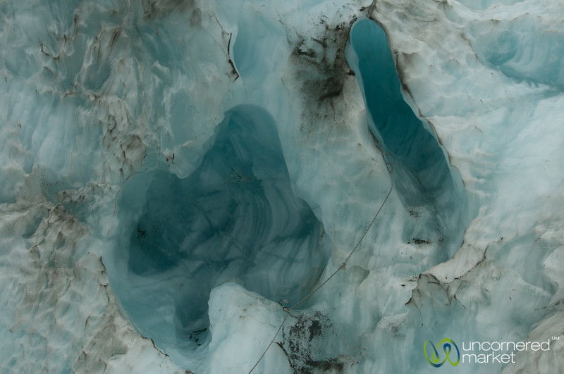 Glacier Blue and Contours - Franz Josef Glacier, New Zealand