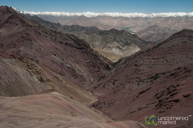 Mountain Ranges, View from Top of Gongmaru La Pass - Ladakh, India