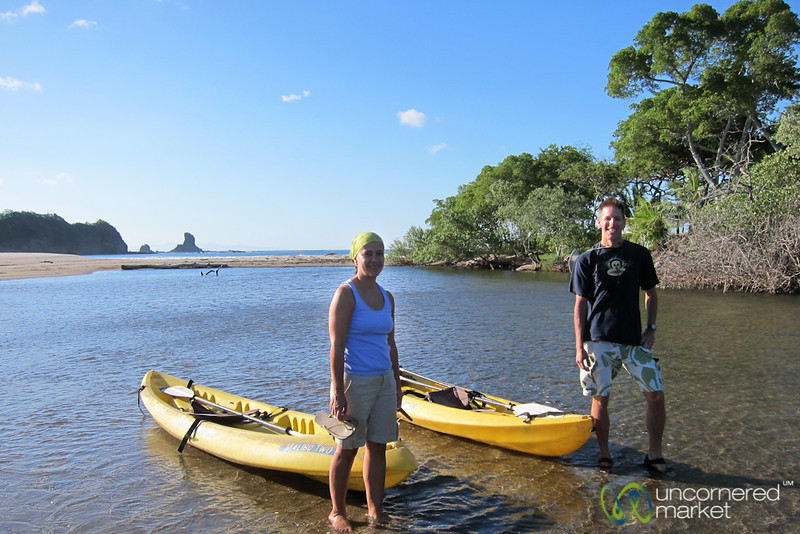 Dan & Selena Out Kayaking & Bird Watching - Morgan's Rock, Nicaragua