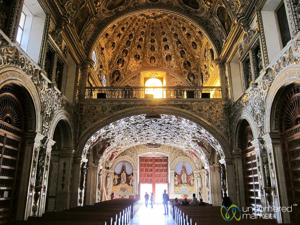 Inside Santo Domingo Church - Oaxaca, Mexico