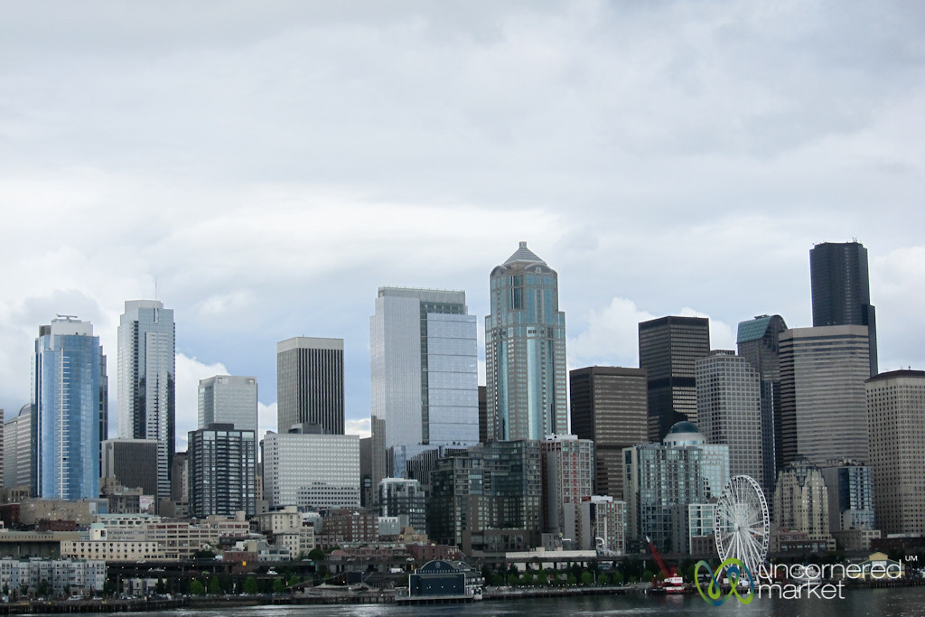 Seattle Skyline from Puget Sound - Washington