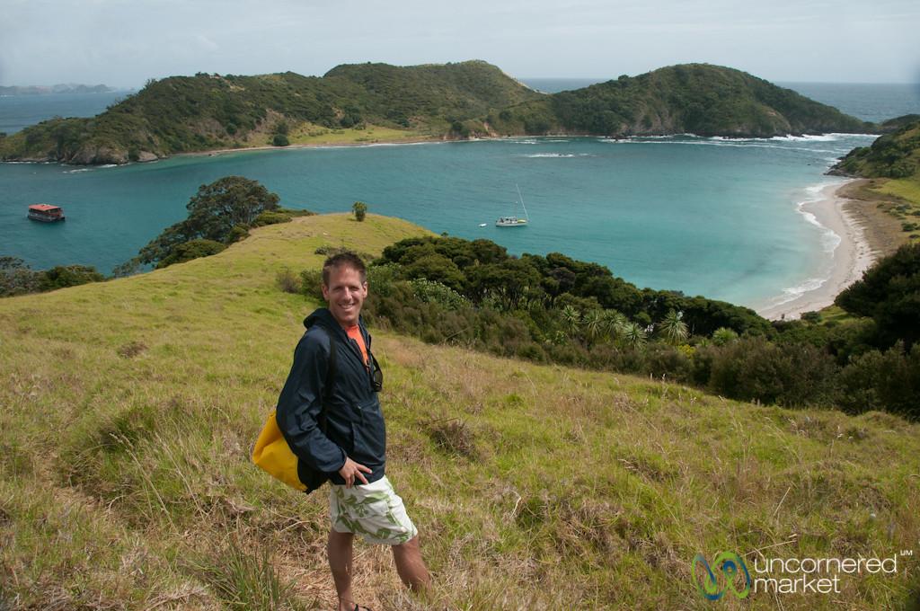 Dan in the Bay of Islands - New Zealand