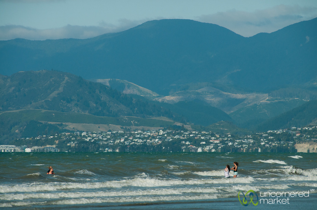 Rabbit Island, Playing in the Waves - Nelson, New Zealand