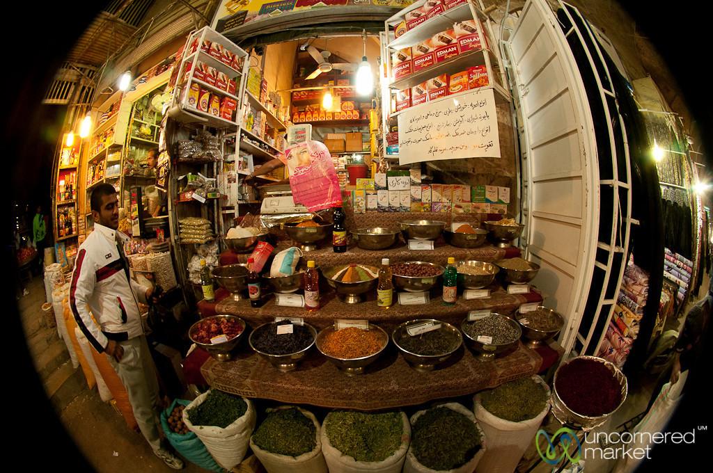 Spice Stand at Shiraz Market - Iran