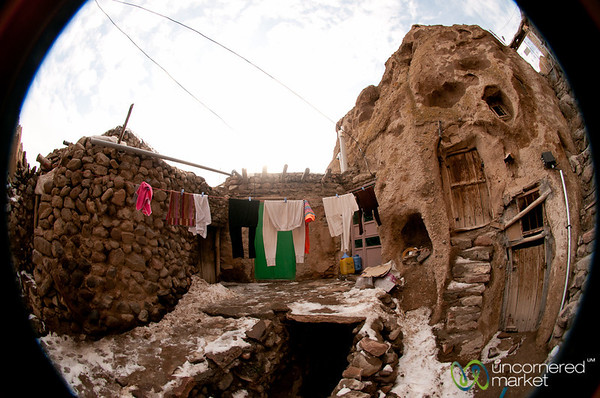 Fisheye in Kandovan, Iran