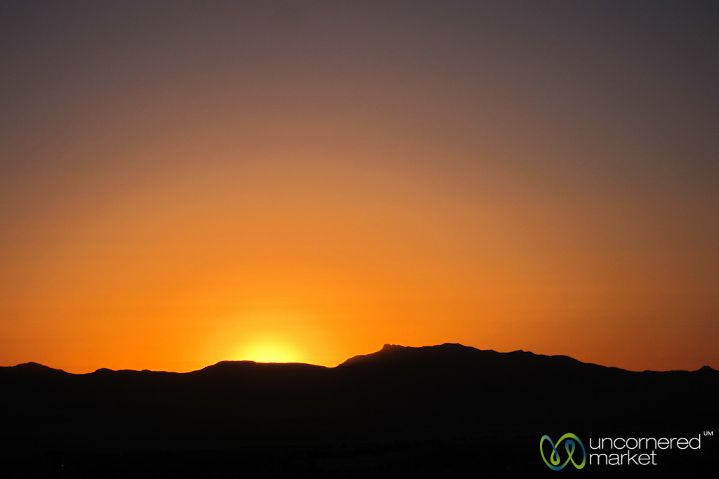 Sunset in the Desert - Aus, Namibia