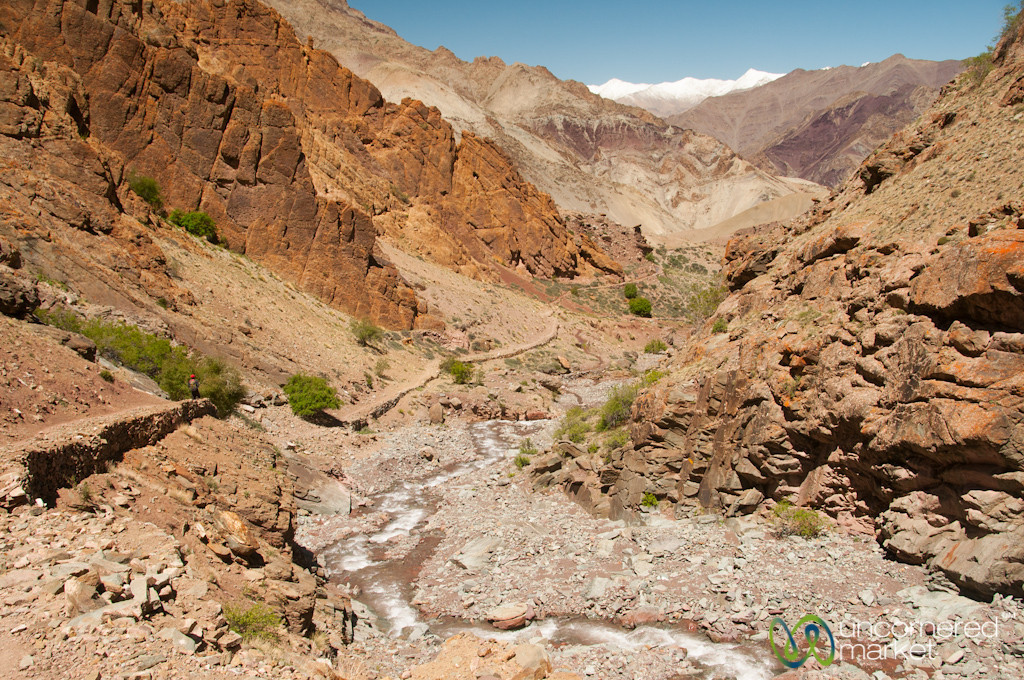 Following Mountain Streams Down from Gongmaru La Pass - Ladakh, India