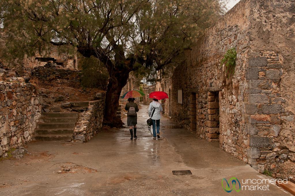 Spinalonga Fort in the Rain - Crete, Greece