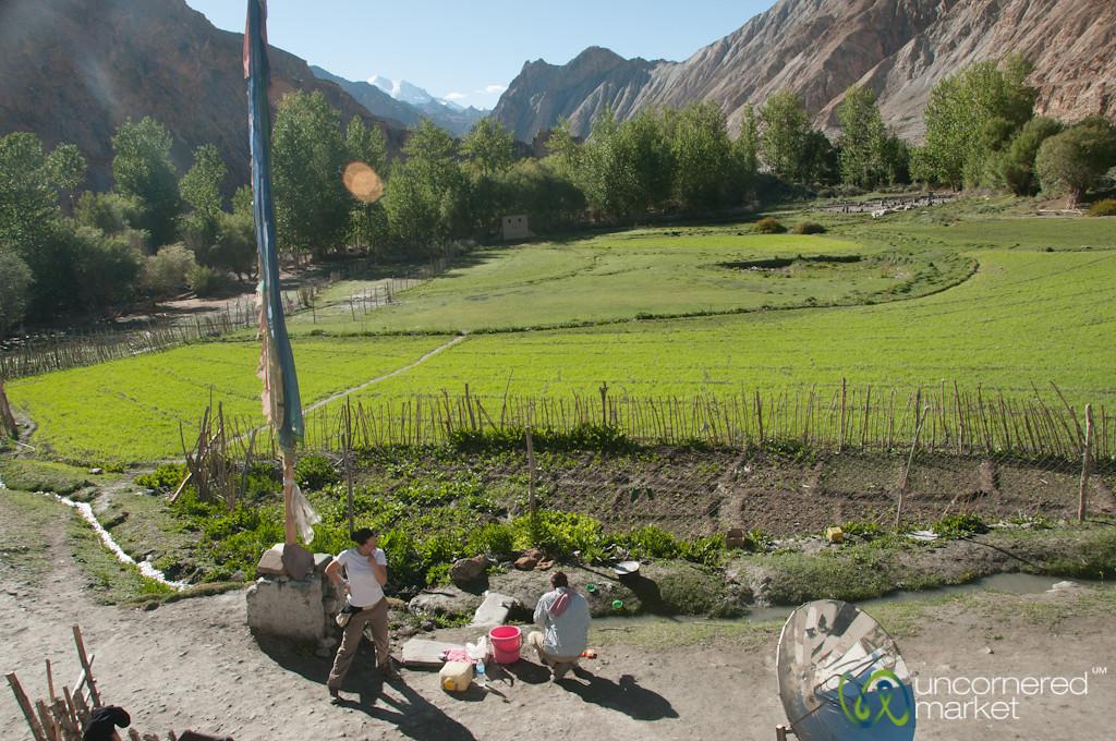 Ladakhi Homestay, Brushing Teeth - Markha Valley, Ladakh
