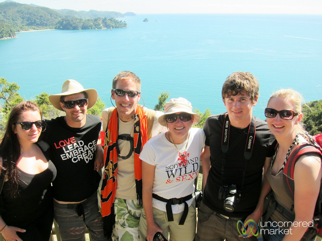 Our G Adventures Group in Abel Tasman National Park - New Zealand