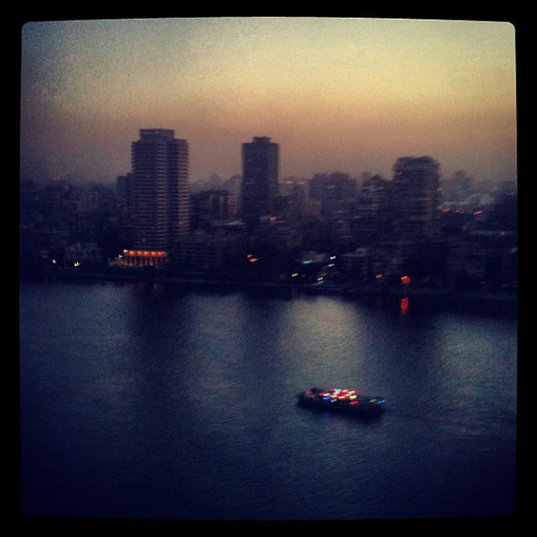 From our window, Dusk on the Nile #Cairo #WeVisitEgypt