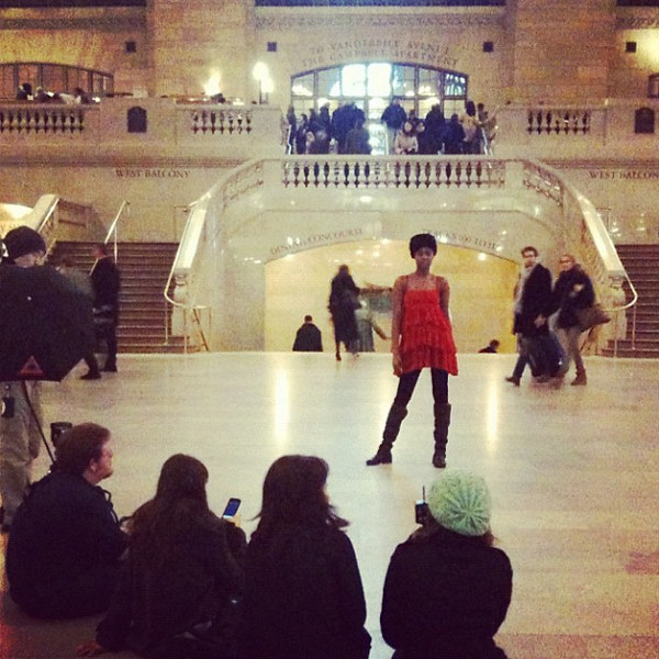 Photo shoot at Grand Central Station, New York
