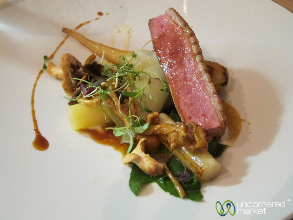 Aniar Tasting Menu - Duck with Mushrooms and Fennel. Galway, Ireland