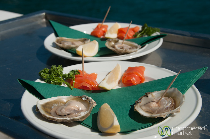 Smoked Salmon and Oysters on Seafood Odyssea - New Zealand