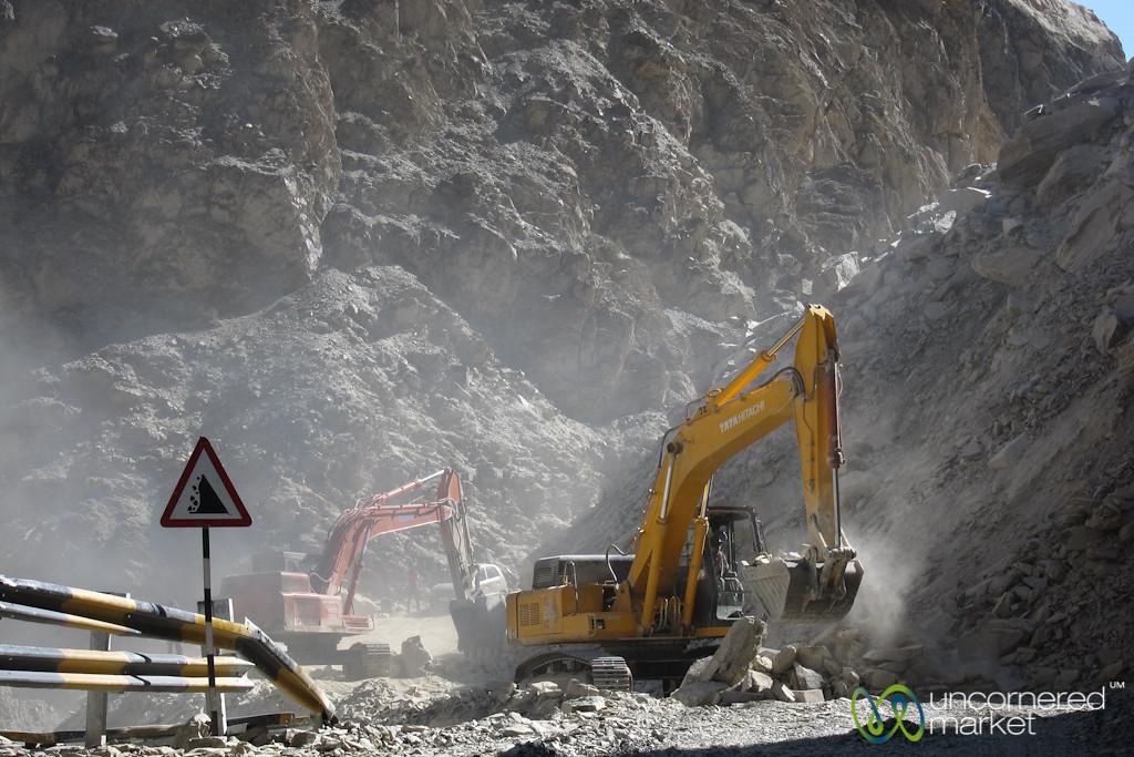 Ladakh Road Construction - Near Lamayuru, India