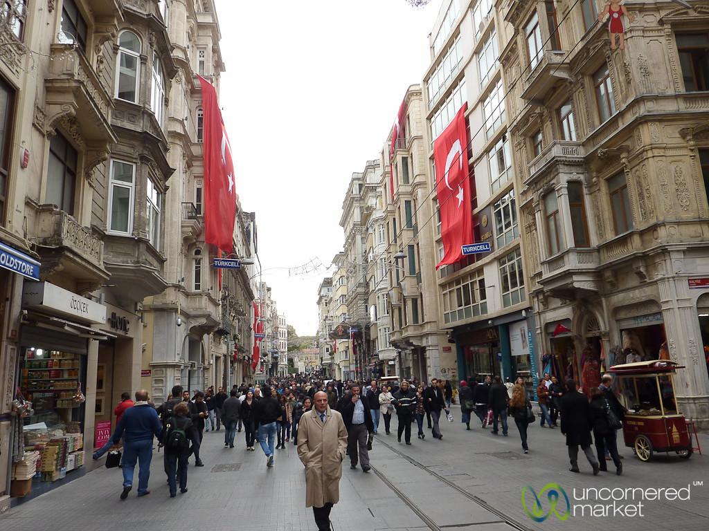 Walking Down Istiklal Avenue - Istanbul, Turkey