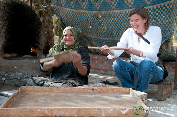 Audrey Tries Hand at Egyptian Flatbread - Cairo, Egypt