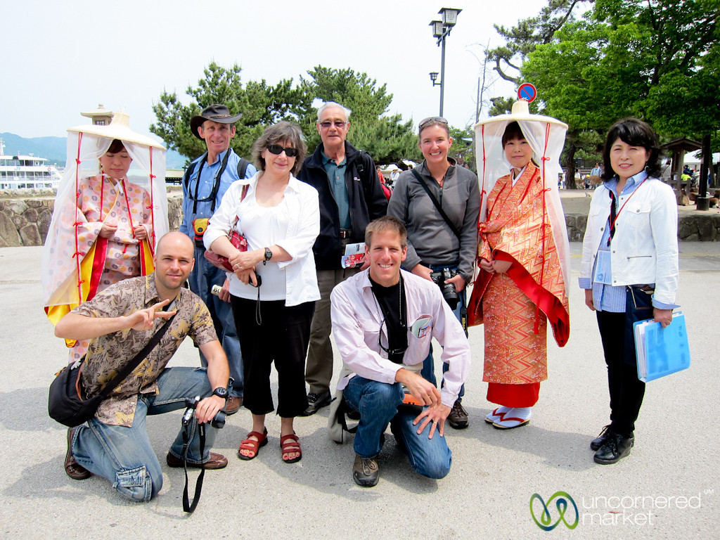 Cheesy Group Photo on Miyajima, Japan