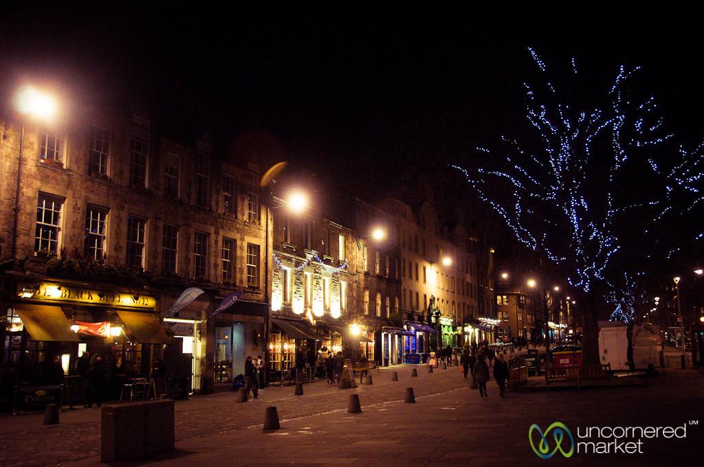 Grass Market at Night - Edinburgh, Scotland