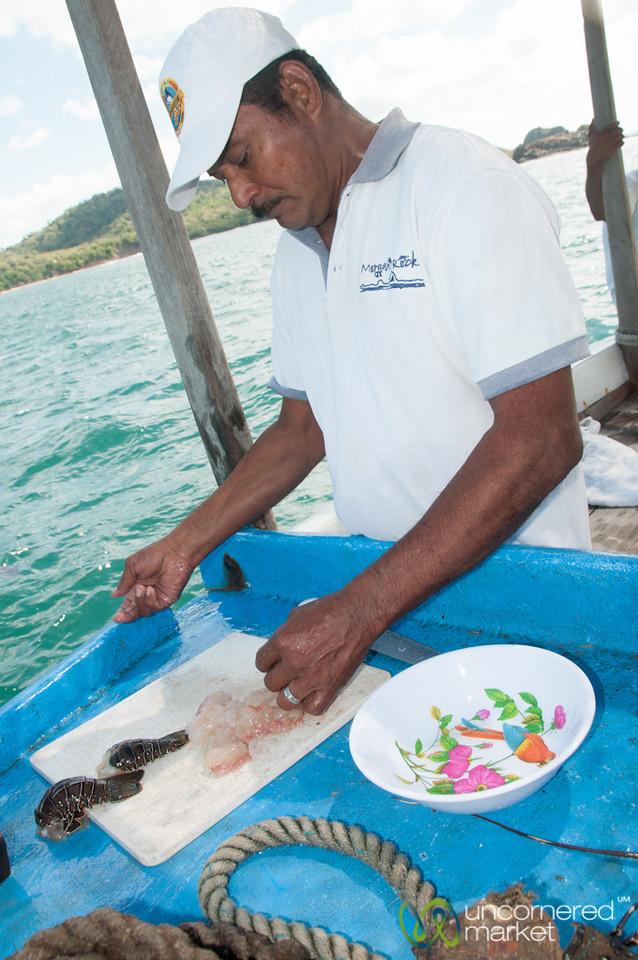 Fresh Lobster on the Boat - Morgan's Rock, Nicaragua