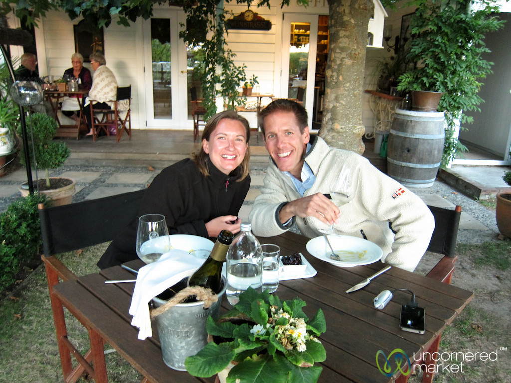 Dan & Audrey at Hans Herzog Winery - Marlborough, New Zealand