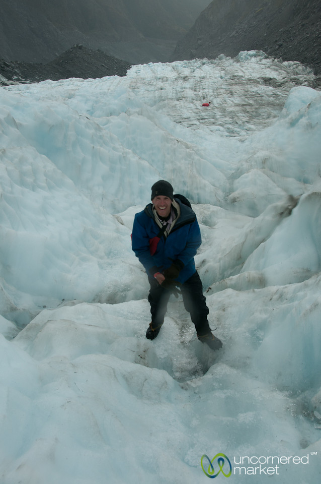 Dan at Franz Josef Glacier - New Zealand